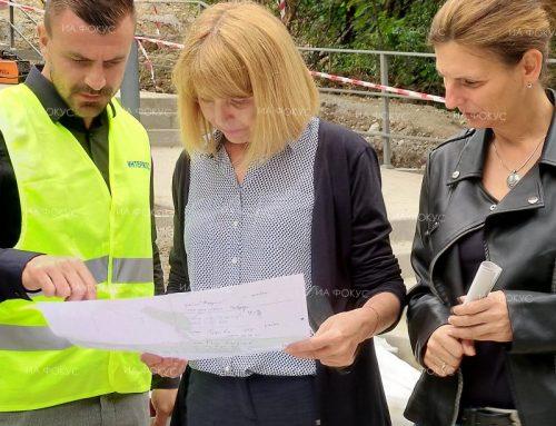 """Днес столичният кмет Г-жа Йорданка Фандъкова посети обектът ни """"Изграждане на парк """"Въртопо"""", кв.Младост, гр.София"""
