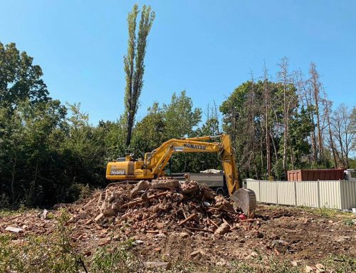 """НОВ ОБЕКТ : """"Събаряне на съществуваща сграда и изкопни работи в кв. Горна Баня"""""""